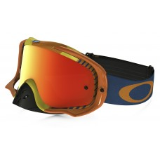 Очки для мотокросса OAKLEY Crowbar Biohazard оранжевые-синие / оранжевая Iridium