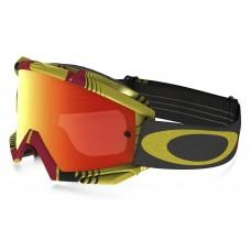 Очки для мотокросса OAKLEY Proven Biohazard красные-желтые / оранжевая Iridium