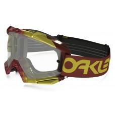 Очки для мотокросса OAKLEY Proven Factory красные-желтые / оранжевая Iridium