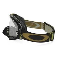 Очки для мотокросса OAKLEY Crowbar Mosh Pit черные-золотистые / прозрачная
