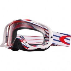 Очки для мотокросса OAKLEY Crowbar Nemesis красные-белые-синие / прозрачная
