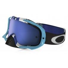 Очки для мотокросса OAKLEY Crowbar Pinned Race синие-белые / синяя Iridium
