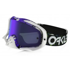 Очки для мотокросса OAKLEY Crowbar Splatter фиолетовые-белые / фиолетовая Iridium