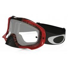 Очки для мотокросса OAKLEY Crowbar Distress красные-оранжевые / прозрачная