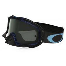 Очки для мотокросса OAKLEY Crowbar Distress синие-черные / темно-серая