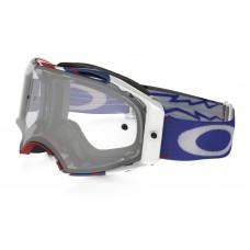 Очки для мотокросса OAKLEY Airbrake Hi Voltage красные-белые-синие / прозрачная