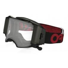 Очки для мотокросса OAKLEY Airbrake  Factory B1-B красные-черные / прозрачная