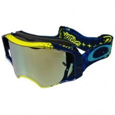 Очки для мотокросса OAKLEY Airbrake Starburst TLD желтые-синие / желтая 24K Iridium
