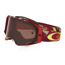 Очки для мотокросса OAKLEY Airbrake Splinter TLD красные-оранжевые / бронзовая Prizm MX