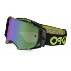 Очки для мотокросса OAKLEY Airbrake Thumbprint черные-желтые / зеленая Prizm MX