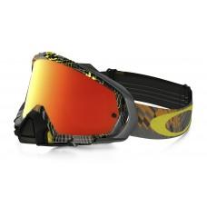 Очки для мотокросса OAKLEY Mayhem Pro Podium Check серые-желтые / оранжевая Iridium