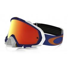 Очки для мотокросса OAKLEY Mayhem Pro Shockwave синие-белые / оранжевая Iridium