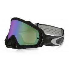Очки для мотокросса OAKLEY Mayhem Pro Solid черные глянцевые / зеленая Prizm MX