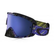 Очки для мотокросса OAKLEY O-Frame 2.0 Rain of Terror фиолетовые-черные / синяя Iridium
