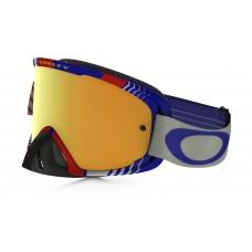 Очки для мотокросса OAKLEY O-Frame 2.0 Biohazard синие-красные / желтая 24K Iridium