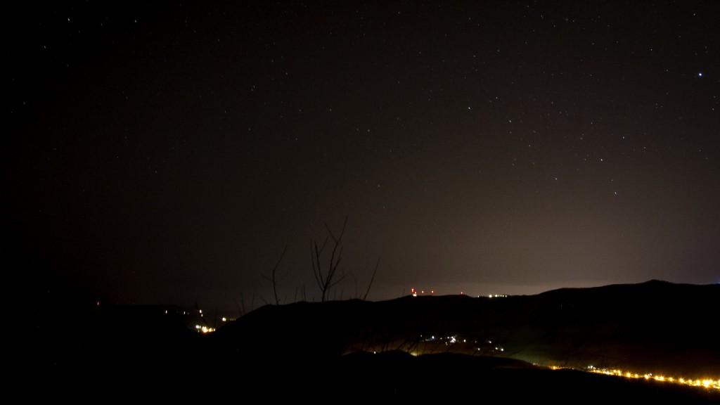 Ночь. Горы. Геленджик