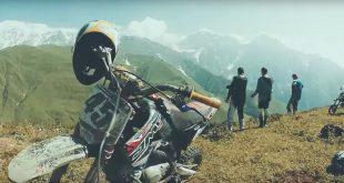 Эндуро на питбайках в горах Грузии