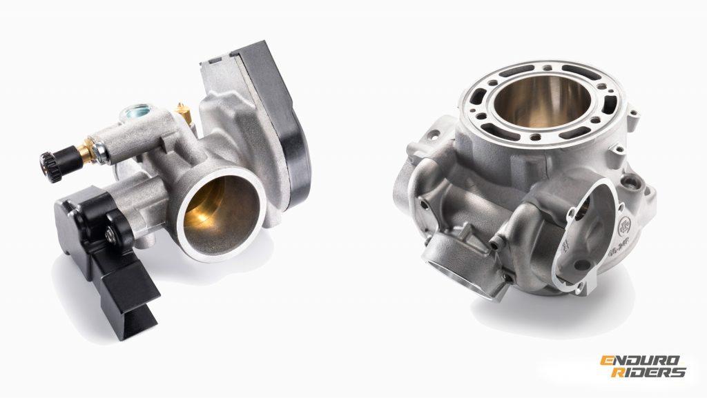 KTM EXC цилиндр и дроссель
