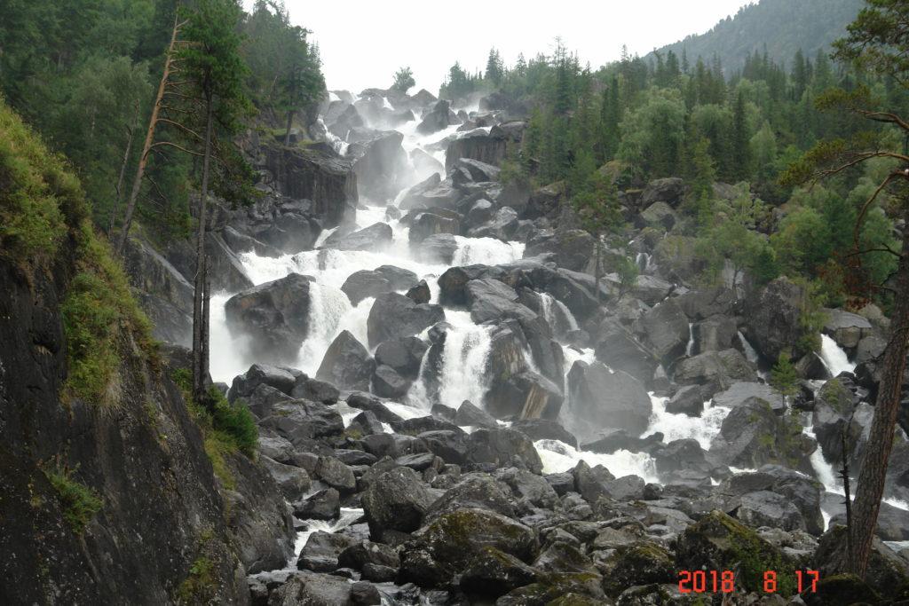 алтай водопад учар