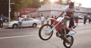 Езда по Дорогам общего пользования на спортинвентаре (питбайке, кроссовом мотоцикле)
